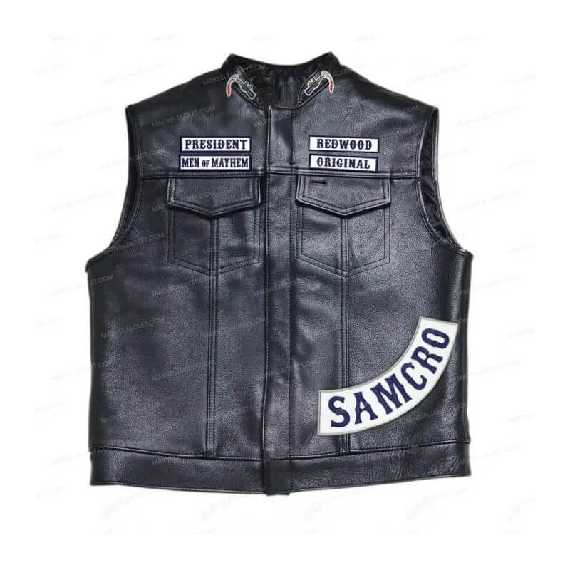 Jax Teller Soa Vest Redwood Original Marvel Jacket