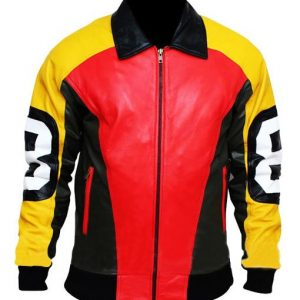 David Puddy 8 Ball Leather Jacket