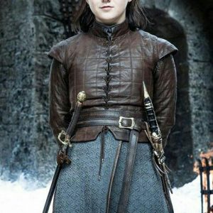 GAME OF THRONES MAISIE WILLIAMS LEATHER JACKET