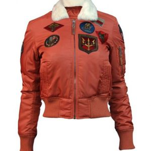 Top Gun B-15 Womens Flight Jacket With Patches