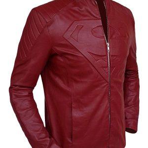 -48% Superman Smallville Maroon Jacket