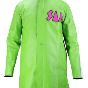 Dragon Ball Super Broly Vegeta Sab Green Leather Coat Jacket Goku Sab Jacket