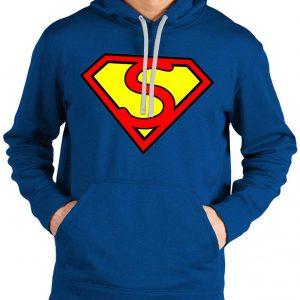 Superman Blue Logo Hoodie
