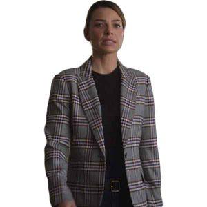 Lucifer Chloe Decker Checked Coat