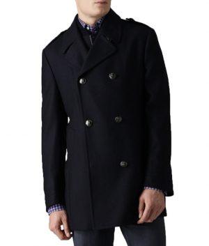 John Diggle Blue Wool Jacket