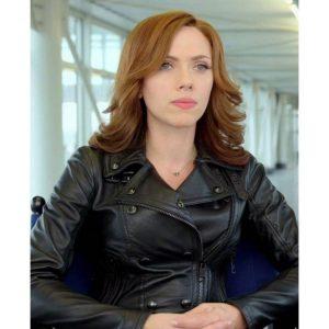 Black Widow (Scarlett Johansson) Avengers Endgame Leather Jacket