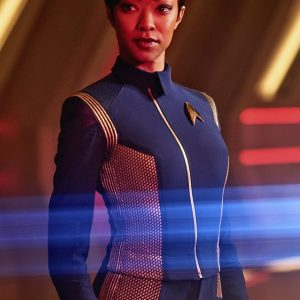 Sonequa Martin Green Star Trek Discovery Blue Jacket