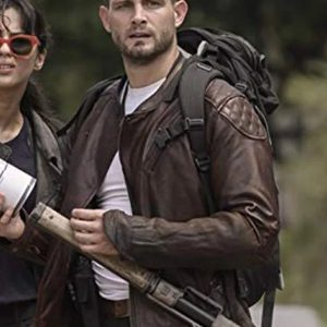 THE WALKING DEAD NICO TORTORELLA QUILTED LEATHER JACKET