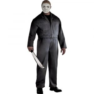Adult Gray Michael Myers Costume Plus Size - Halloween