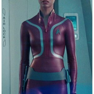 Star Trek Beyond Zoe Saldana Leather Jacket